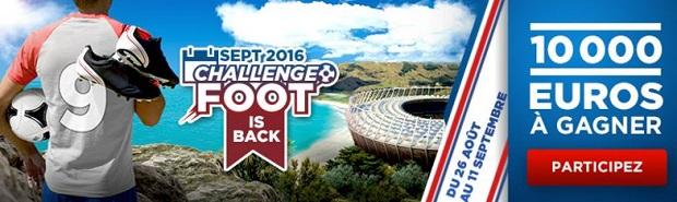 Challenge foot de Betclic du mois de septembre entre le 26/08 et le 11/09