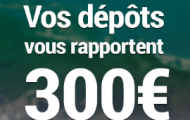 Recevez jusqu'à 300€ de bonus grâce à l'offre spécial dépôt de France Pari jusqu'au 14 août 2016
