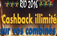 Pariez en combiné sur les JO de Rio avec JOA et profitez d'un Cashback de 5% à 15% sur vos mises