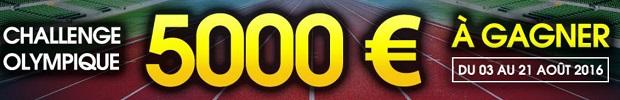 Cagnotte exceptionnelle de 5.000 euros à partager à l'occasion du Challenge Olympique sur NetBet