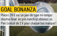 Profitez de l'offre Goal Bonanza du dimanche avec Bwin.fr : 2€ offerts à chaque but marqué