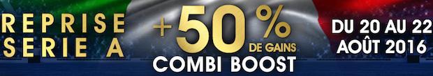 Offre combi boost spéciale série a avec Netbet.fr