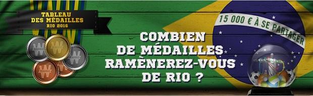 """Participez au """"Tableau des Médailles"""" sur Winamax du 5 au 22 août lors des JO de Rio"""