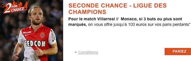 Pariez sur Villarreal/Monaco avec PMU Sport