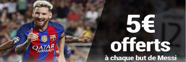 Jusqu'à 10 euros offerts sur Barcelone/Atletico le 21/09 avec France Pari