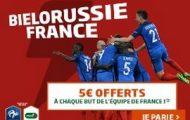 Pariez sur le match Biélorussie-France du 6 septembre avec PMU : 5€ offerts à chaque but des Bleus