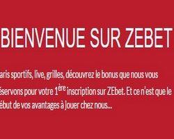 Inscrivez vous avec le code bonus ZEbet