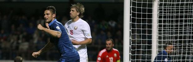 Giroud essayera de débloquer son compteur face à la Biélorussie