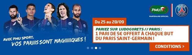 Pariez sur Ludogorets/PSG avec PMU en LdC et gagnez jusqu'à 15€.