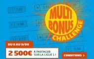 Remplissez une grille Multi Bonus pour la 4ème journée de Ligue 1 sur PMU et empochez votre part des 2.500€
