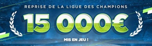 Cagnotte de 15.000 euros à partager sur Parions Sport pour la reprise de la Champions League