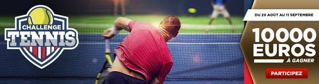 De 50 à 2.500€ à gagner pour l'US Open de tennis sur Betclic