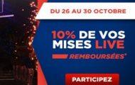 Pariez en live sur la NBA du 26 au 30 octobre sur Betclic.fr et profitez de 10% de vos mises remboursées