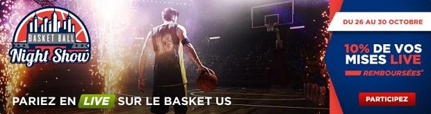 Jusqu'à 100 € de bonus à gagner en misant sur le basket US avec Betclic