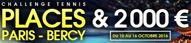 Challenge tennis sur NetBet du 10 au 16 octobre