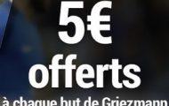 Misez sur France/Bulgarie le 7 octobre 2016 avec France Pari : 5€ offerts par but d'Antoine Griezmann