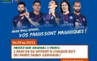 Pariez sur Arsenal-PSG en Ligue des Champions avec PMU : 5 euros offerts pour chaque but de Paris