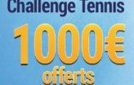 Challenge tennis pour le Masters de Londres avec France Pari : 1.000€ mis en jeu du 13 au 20 novembre