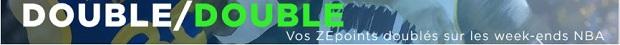 Offre Double-double spéciale NBA sur ZEbet