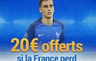 Pariez sur le match France/Suède du 11 novembre : France Pari vous offre 20€ si les Bleus s'inclinent