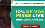 Vos paris live remboursés à 10% du 31 octobre au 6 novembre avec Betclic pour le Masters 1000 de Paris