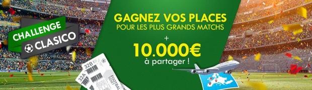 Le Challenge Foot Clasico sur Unibet : 10.000€ en jeu