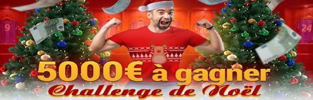 5.000€ en jeu pour le Challenge Foot de Noël de France Pari