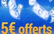 Offre dépôt d'argent sur France Pari : Déposez 50€ du 5 au 8 décembre 2016 et recevez 5€ supplémentaires