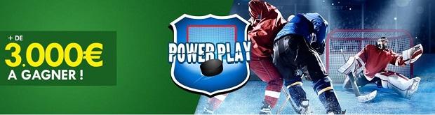 Misez sur le hockey US en combiné grâce au Power Play d'Unibet