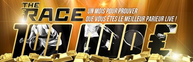 100.000€ mis en jeu par Winamax pour son offre The Race