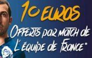 Parions Sport vous offre 10€ à chaque victoire des Bleus au Championnat du monde de hand du 11 au 29/01