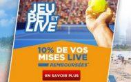 L'Open d'Australie 2017 avec Betclic.fr : 10% de vos mises Live remboursées à hauteur de 100€