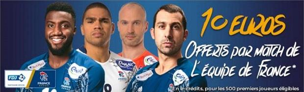 Remportez 10€ sur ParionsSport à chaque victoire de la France au Mondial 2017 de hand
