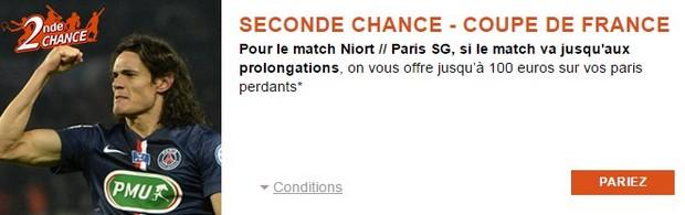 Profitez d'un pari seconde chance sur PSG/Niort avec PMU