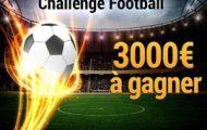 Le Challenge Football de France Pari : 3.000€ mis en jeu du 10 au 24 février 2017 pour les 30 meilleurs parieurs