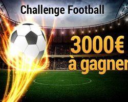 France Pari vous propose un Challenge Football en février