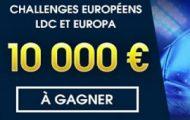 Pariez sur les coupes européennes de foot avec Netbet du 14 février au 16 mars : 4 x 2.500€ à partager