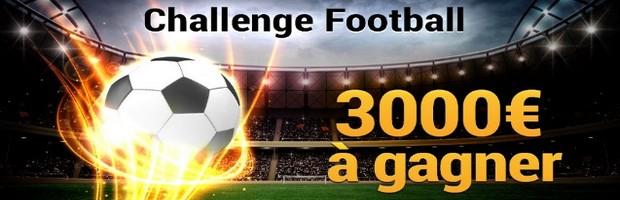 3.000€ en jeu sur France Pari pour le Challenge Foot de février