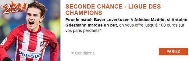 100€ offerts par PMU pour Bayer Leverkusen-Atletico Madrid