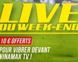Winamax vous propose son offre Live du Week-end sur le football