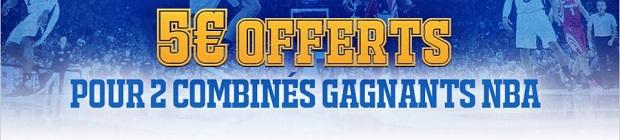 Empochez jusqu'à 50 euros du 31 janvier au 7 février grâce à la NBA sur France Pari