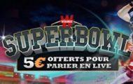 Pariez sur le Super Bowl avec Winamax et gagnez une mise live de 5€ pour Atlanta /New England