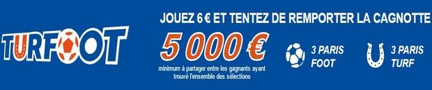 5.000€ mis en jeu avec les grilles Turfoot de PMU