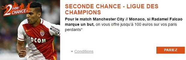 Seconde Chance PMU pour City/Monaco en LDC