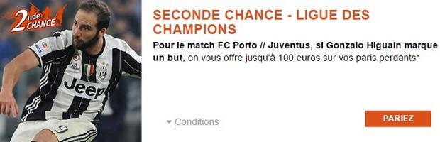 100€ offerts par PMU pour FC Porto-Juventus Turin en LDC