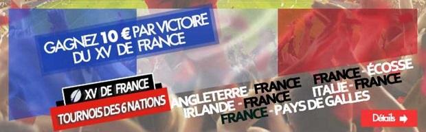 Gagnez jusqu'à 50 euros sur le Six Nations de Rugby avec JOA du 01/02 au 18/03