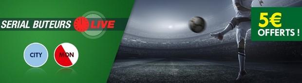 5€ offerts par Unibet pour Manchester City-Monaco en Ligue des Champions
