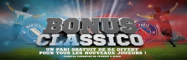 5 euros offerts à l'inscription par Winamax pour le Classico OM-PSG