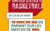 """Avec son offre """"United States of BasketBall"""" PMU.fr met 10.000€ en jeu sur la NBA du 20 au 26 mars"""