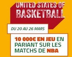 PMU.fr met 10.000€ en jeu sur la NBA en mars 2017